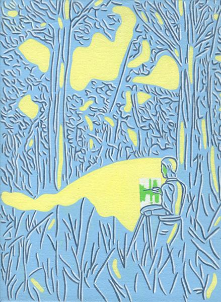 Het Schilderij, acryl op linnen, 40 x 30 cm, 1994