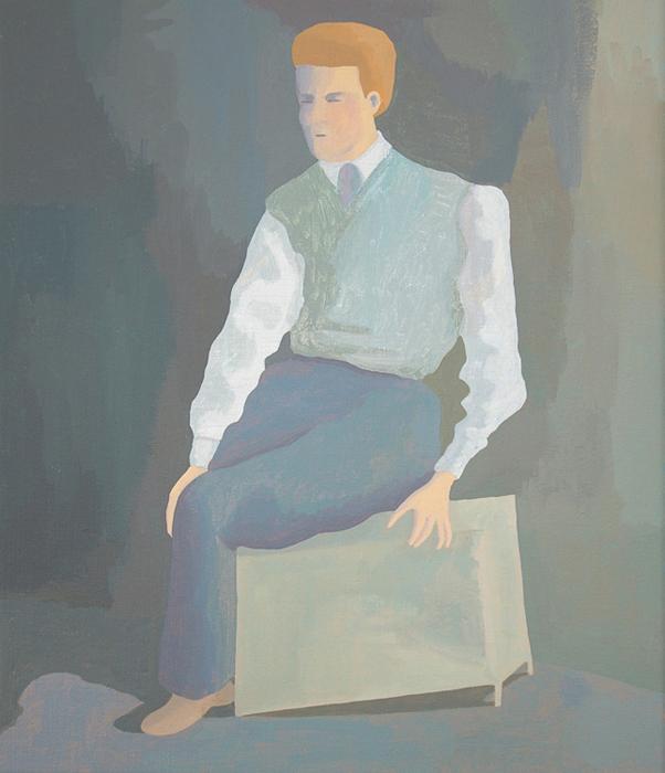 Zonder titel, acryl op linnen, 40 x 30 cm, 2006