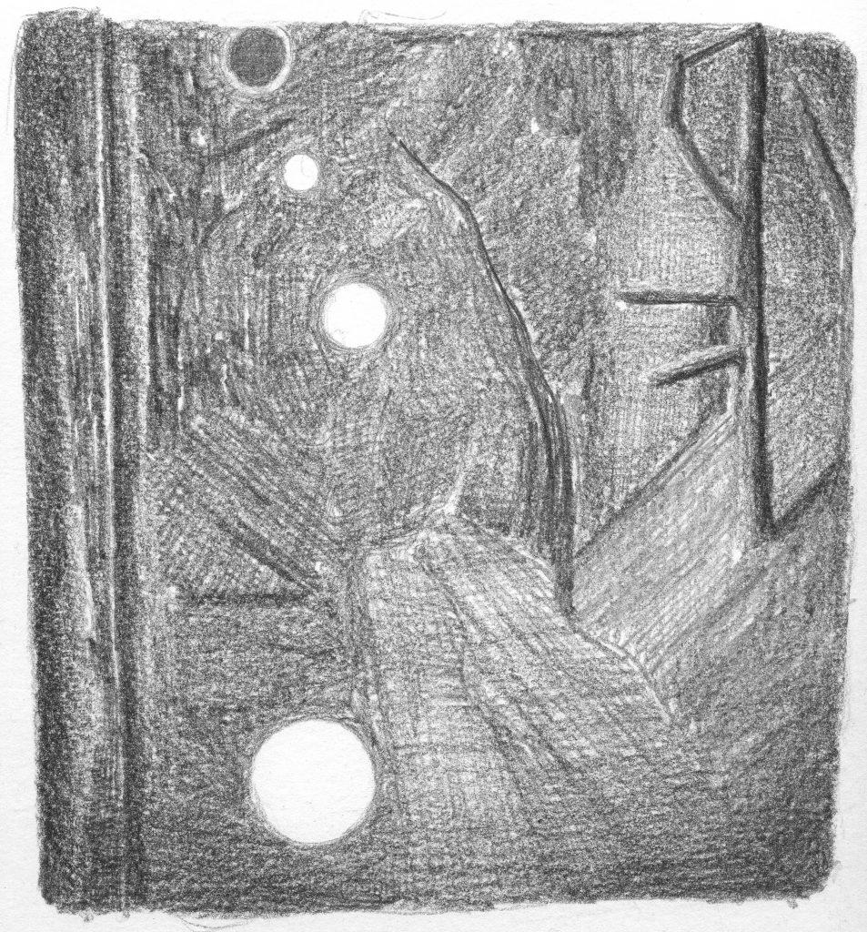 Zonder titel, potlood op papier, 19,5 x 19 cm, 2007