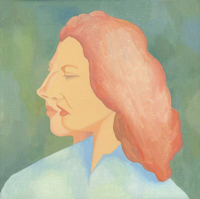 Dubbelportret, acryl op linnen, 40 x 40 cm, 2006