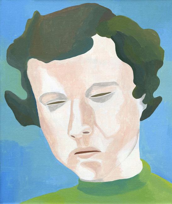 Zonder titel, acryl op linnen, 40 x 35 cm, 2006