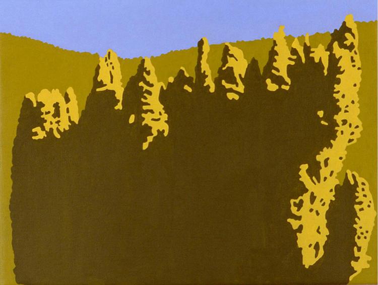 Zonder titel, acryl op linnen, 40 x 30 cm, 2001