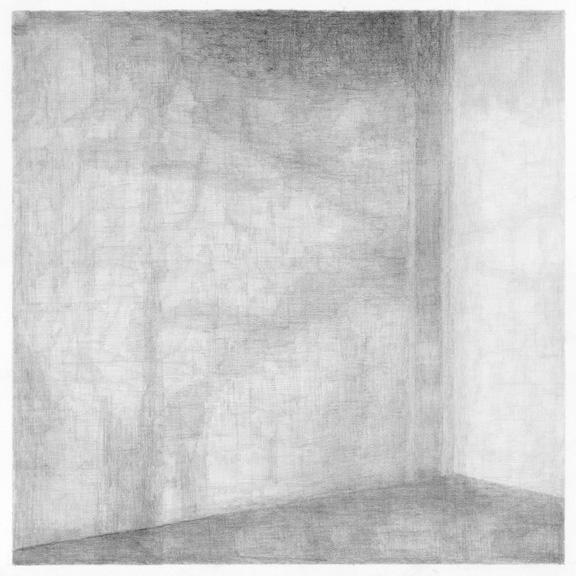 Le vide (Yves Klein), potlood op papier, 50 x 50 cm, 2011