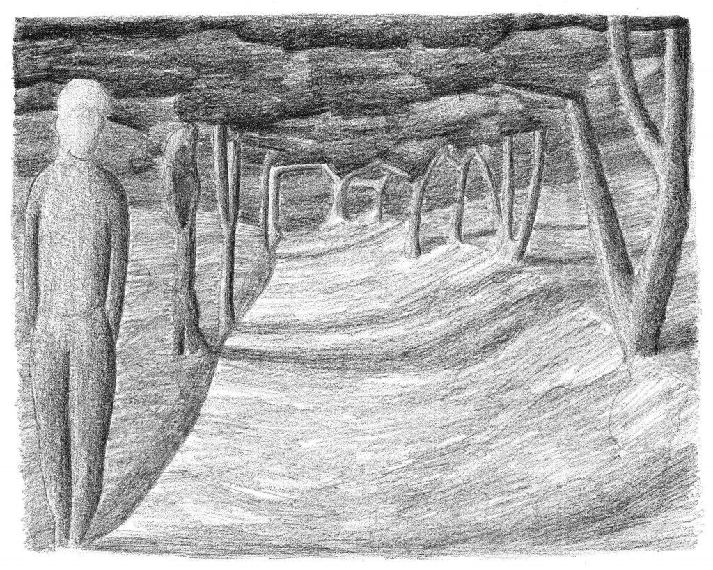 Zonder titel, potlood op papier, 2008