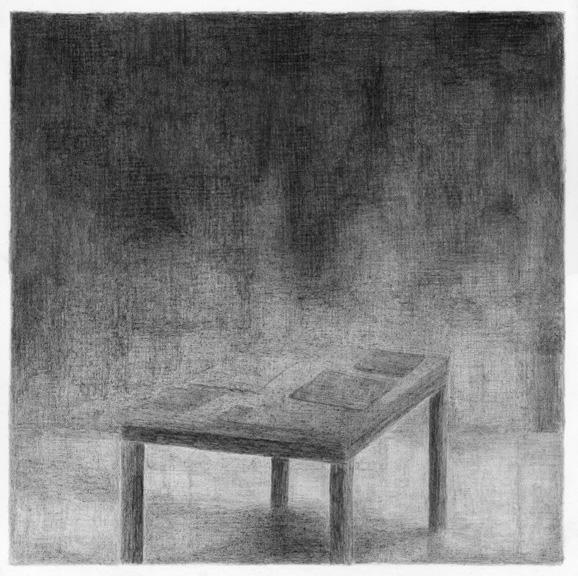 De werkkamer van Robert Musil, potlood op papier, 50 x 50 cm, 2010