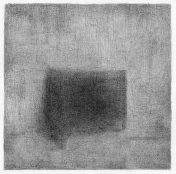 De werkkamer van Fernando Pessoa, potlood op papier, 50 x 50 cm, 2010