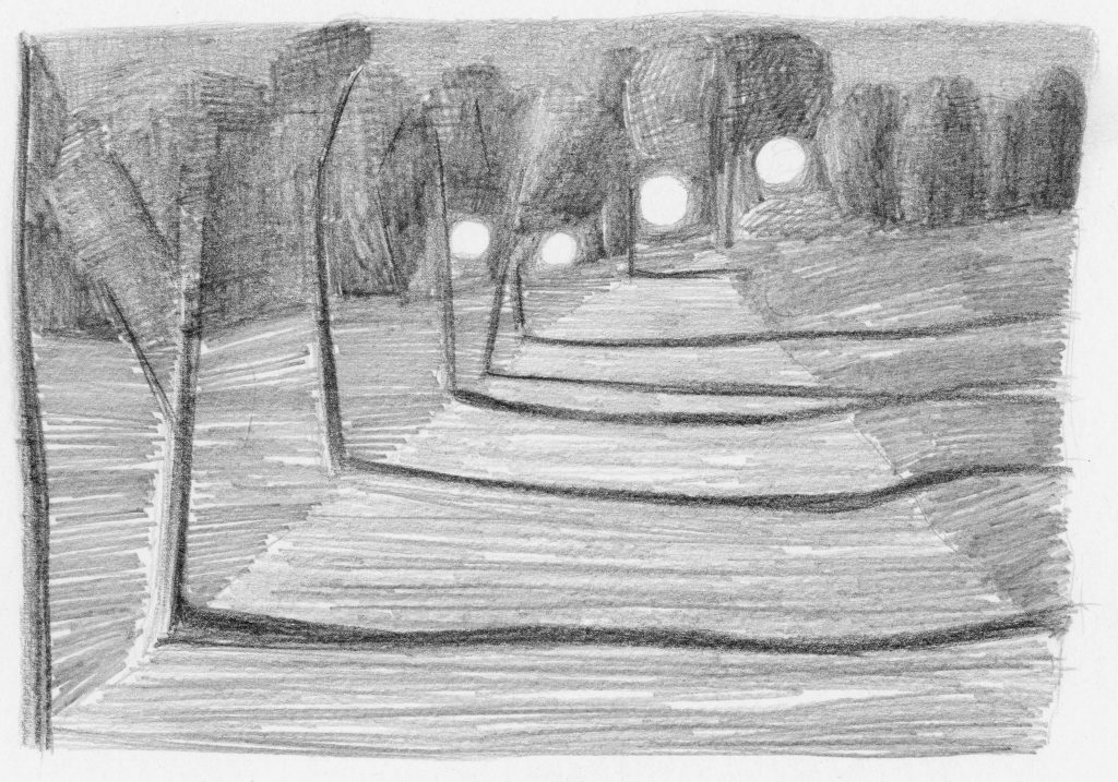 F.Dijkstra. Z.t., potlood op papier, 2007, 14,5 x 20 cm