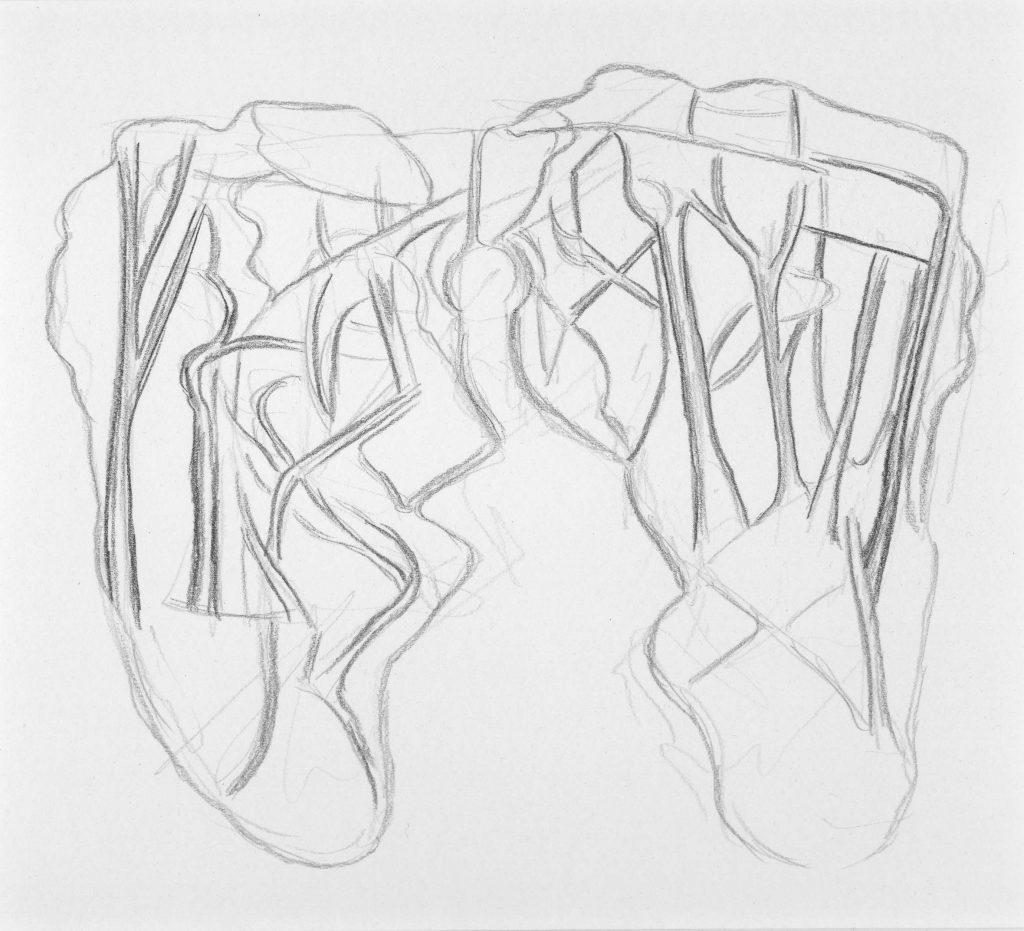 F.Dijkstra. z.t., potlood op papier, 2007, 18,5 x 20,5 cm