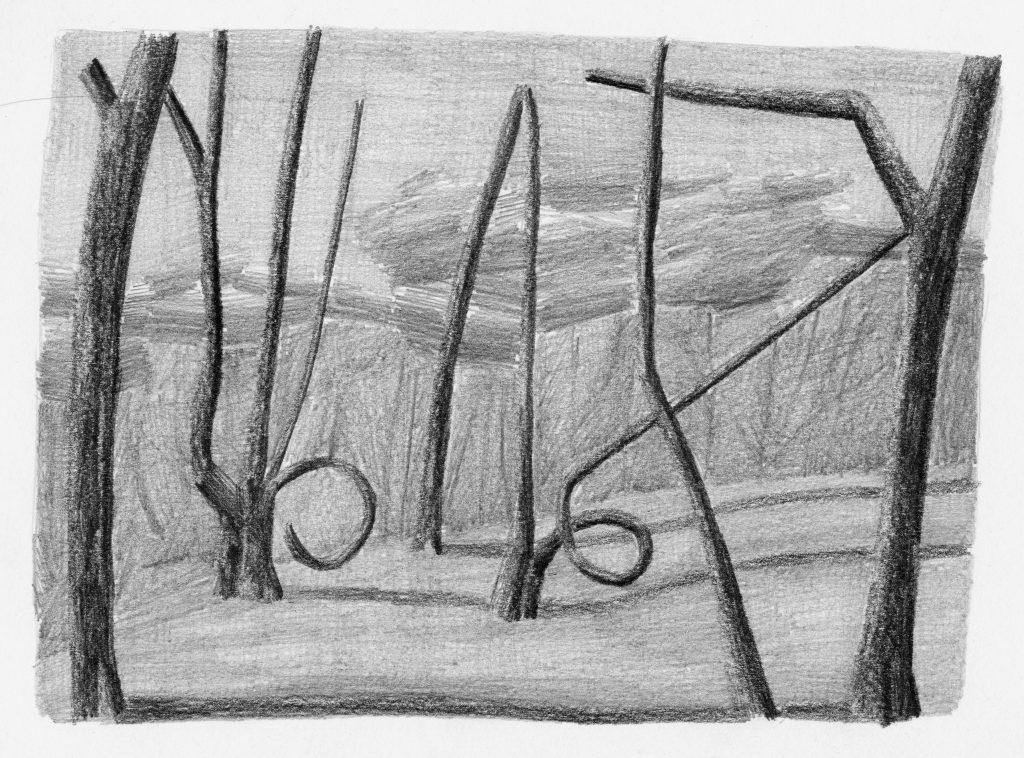 F.Dijkstra. z.t., potlood op papier, 2007, 19 x 25 cm