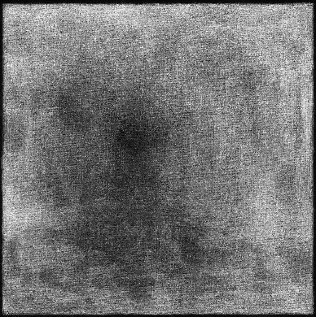 Florette Dijkstra, De laatste kamer van Vincent van Gogh (in negatief), 50 x 50 cm, potlood op papier, 2010